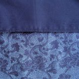 dark blue with paisely pattern reversible nursing cover