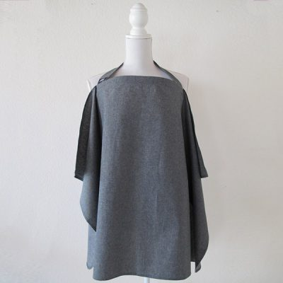 grey denim nursing cover